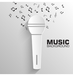 paper microphone background concept tamplat vector image