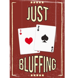 poker bluf vector image vector image