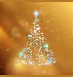 shiny christmas tree holiday template eps 10 vector image vector image