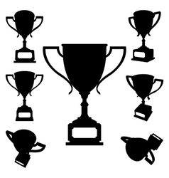 sport cups silhouettes vector image