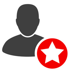 star favourites person flat icon vector image