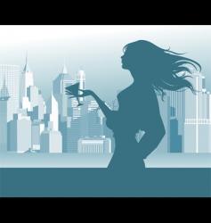 women in the street vector image
