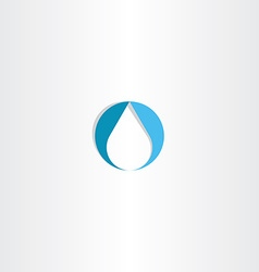 drop water icon logo blue symbol vector image vector image