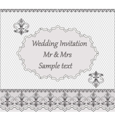 Invitation card with classic vintage ornaments vector image vector image