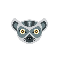Lemur African Animals Stylized Geometric Head vector image vector image