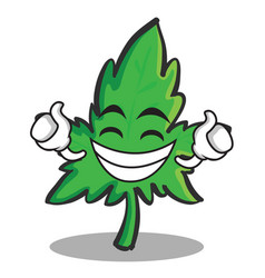 proud face marijuana character cartoon vector image