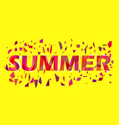 summer text with flying triangles interference vector image