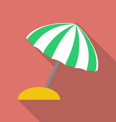 Beach umbrella icon Modern Flat style with a long vector image vector image
