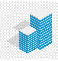 building isometric icon vector image