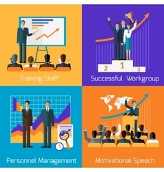 Business Training Success Motivational Managment vector image vector image
