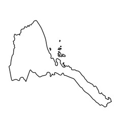 eritrea map of black contour curves on white vector image vector image