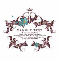 grunge elegant floral frame vector image vector image