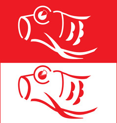 Japanese koi vector image vector image