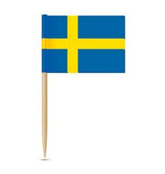 sweden flag swedish flag toothpick 10eps vector image vector image