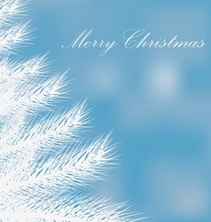 a white Christmas tree on a blue background vector image vector image