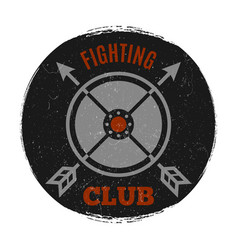 fighting club label with vintage grunge effect vector image vector image