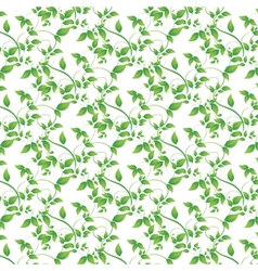 green leaves seamless background vector image