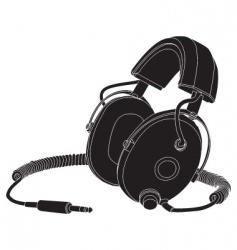 headphones outline vector image