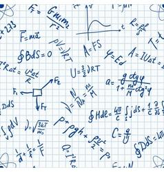 Seamless pattern physic formulas handwritting vector