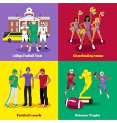 Trophy Football Coach and Team vector image