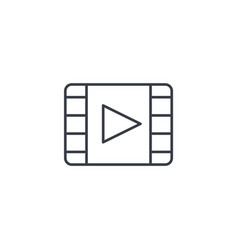 video frame movie film cinema media player vector image