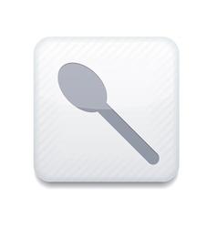 White teaspoon icon eps10 easy to edit vector