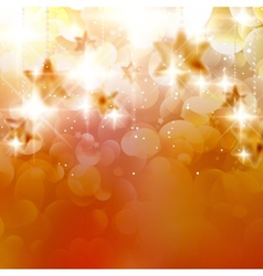 Abstract Christmas bokeh light vector image