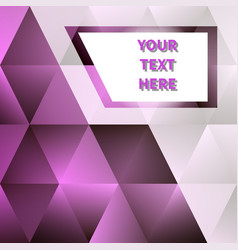 abstract geometric background with place for text vector image