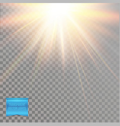 abstract light effects of glowing warm yellow sun vector image
