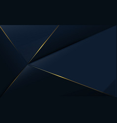 Abstract polygonal pattern luxury blue and gold vector
