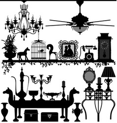antique home decoration furniture interior design vector image