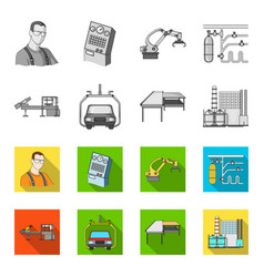 automotive industry and other web icon in vector image