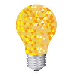 background with yellow light bulb and abstract vector image