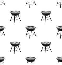 Barbecue grill icon in black style isolated on vector