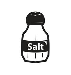 Black salt shaker icon vector