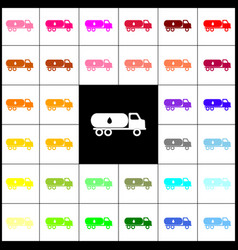 car transports oil sign felt-pen 33 vector image