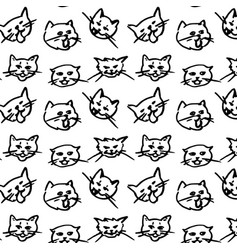 cat seamless pattern kitten scarf isolated vector image