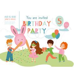 child birthday party invitation vector image