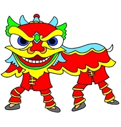 Chinese New Year Celebration Lion Dance vector