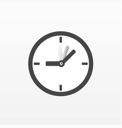 clock icon flat symbol isolated on white b vector image