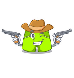 Cowboy character style short pant for hangout vector