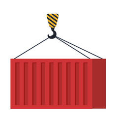 crane hook lifting container vector image