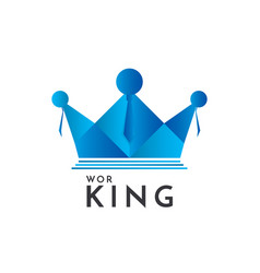 Crown and people logo concept business team work vector
