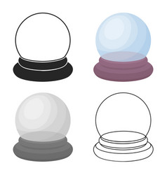 crystal ball icon in cartoon style isolated on vector image