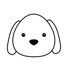 cute dog mascot isolated icon vector image