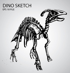 Dinosaur Sketch vector