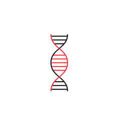 Dna solid icon medical element and genetic sign vector