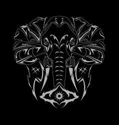Elephant draw vector