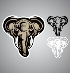 Elephant head emblem logo vector