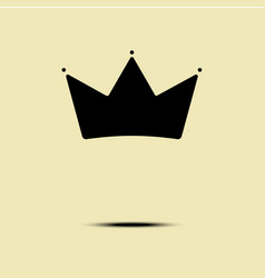 Geometric vintage crown logo minimalism design vector